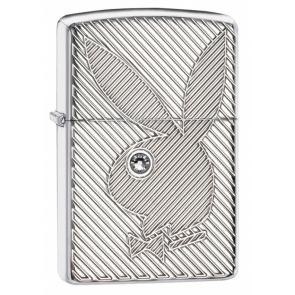 Зажигалка ZIPPO Playboy с покрытием High Polish Chrome, латунь/сталь, серебристая, 37х13x58 мм