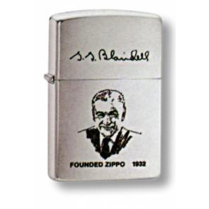 Зажигалка ZIPPO G. Blaisdell, с покрытием Brushed Chrome, латунь/сталь, серебристая, 36x12x56 мм