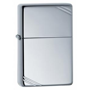 Зажигалка ZIPPO Vintage™с покрытием High Polish Chrome, латунь/сталь, серебристая, 36x12x56 мм