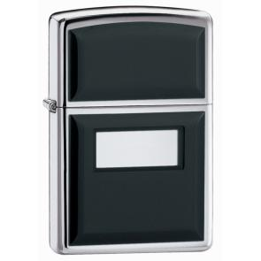 Зажигалка ZIPPO Black Ultralite® с покрытием High Polish Chrome, латунь/сталь, 36x12x56 мм