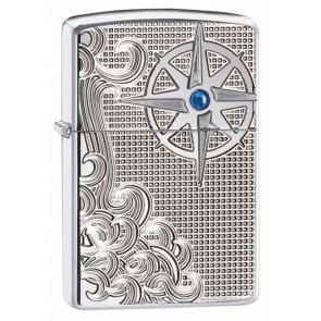 Зажигалка ZIPPO Armor™ с покрытием High Polish Chrome, латунь/сталь, серебристая, 37х13x58 мм