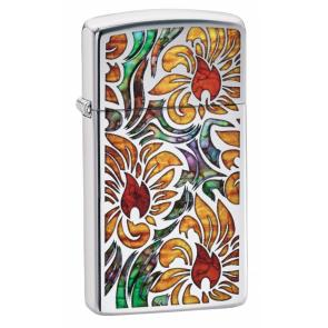 Зажигалка ZIPPO Slim® с покрытием High Polish Chrome, латунь/сталь, серебристая, 30x10x55 мм